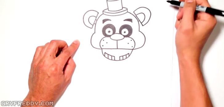 Głowa, ucho i kapelusz Freddy'ego z FNAF