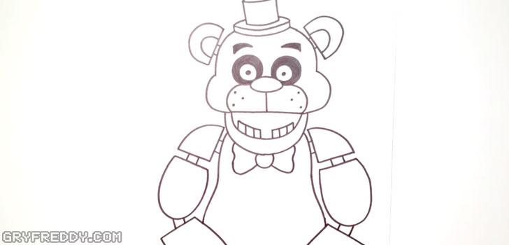 Narysuj ciało i ramiona Miś Freddy